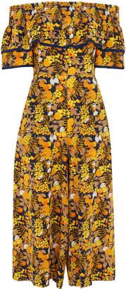 Whistles Nadia Citrus Silk Jumpsuit