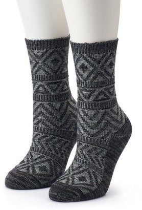 Columbia Women's 2-Pack Textured Crew Socks