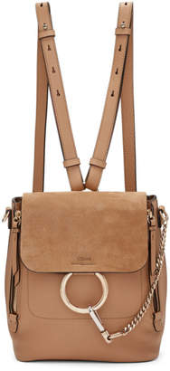 Chloé Beige Small Faye Backpack