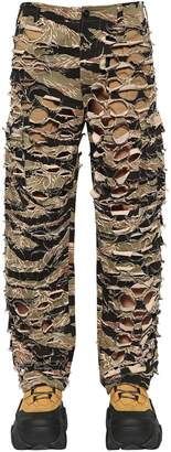 Vetements Military-Net Cutout Camo Canvas Pants