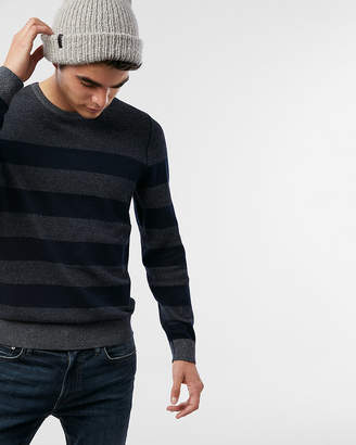 Express Reversible Striped Crew Neck Sweater