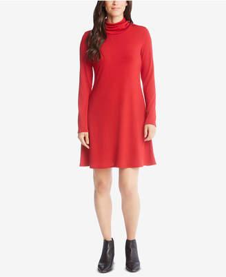 Karen Kane Cowl-Neck A-Line Dress