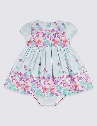 Marks and Spencer 2 Piece Border Print Dress with Knickers