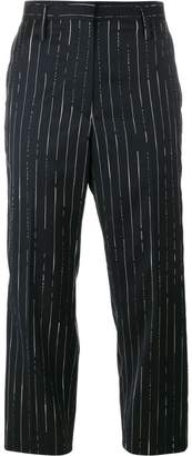 Golden Goose stripe cropped trousers
