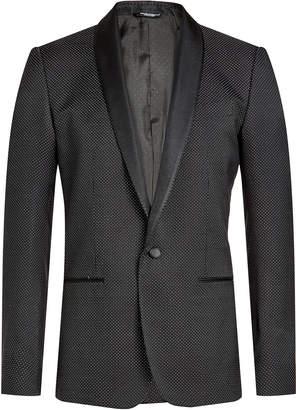 Dolce & Gabbana Printed Blazer with Cotton and Silk