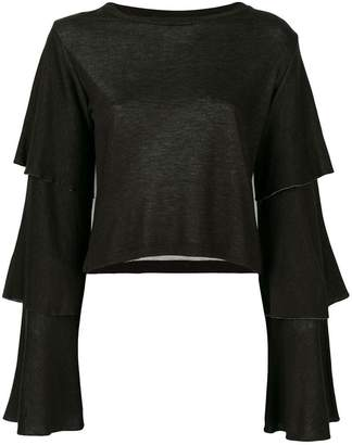 Dondup layered sleeves blouse