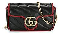 Gucci Women's Small GG Marmont Black Leather Shoulder Bag