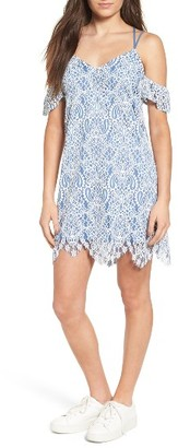 Women's Lush Strappy Lace Cold Shoulder Dress $55 thestylecure.com