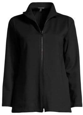 Eileen Fisher Stand Collar Zip-Up Jacket