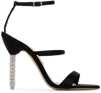 Sophia Webster Black Rosalind crystal embellished stiletto heels