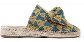 Sam Edelman Bow-Embellished Jacquard Espadrille Sandals