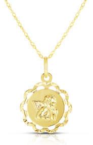 Sphera Milano 14k Italian Angel Flower Necklace