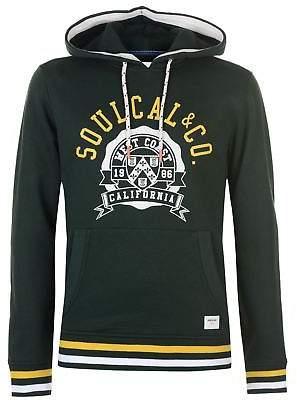 Soul Cal SoulCal Mens Deluxe Cali OTH Hoodie Hoody Hooded Top Long Sleeve Kangaroo Pocket