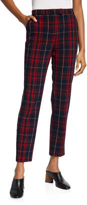 Black Tape Plaid Fitted Pants