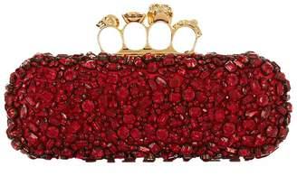 Alexander McQueen Jewelled Four-Ring Clutch