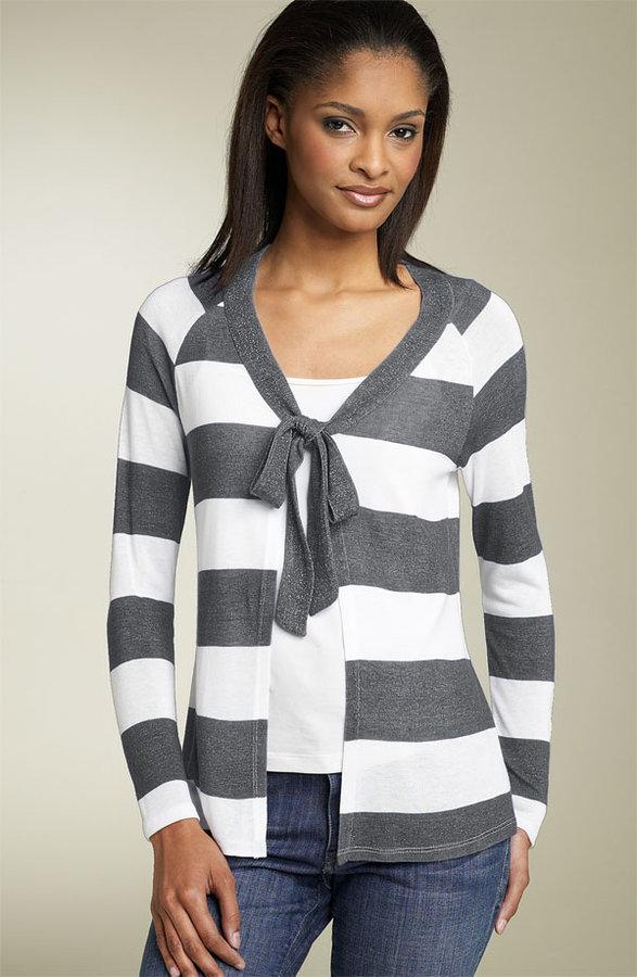 Fever Stripe Tie Cardigan (Petite)