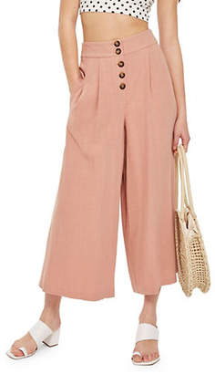 Topshop Buttoned Cropped Pants