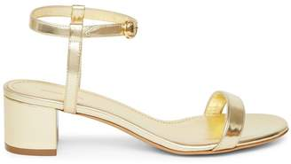 Mansur Gavriel Lamb Ankle Strap Sandal - Gold