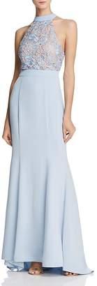 Jarlo Caden Lace-Bodice Gown