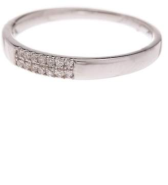 Carriere Sterling Silver Pave Diamond Stackable Ring - 0.07 ctw