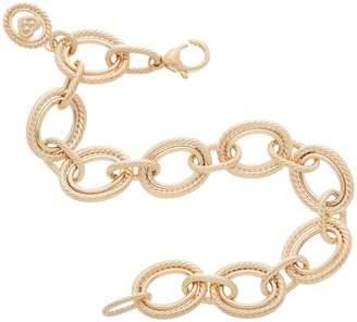 "Judith Ripka Verona 14K Gold 8"" Oval Link Bracelet 10.4g"