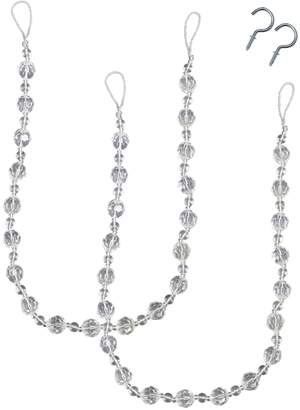 Bali Crystal Bead 2-pack Curtain Holdbacks