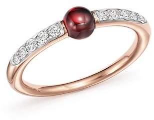 Pomellato M'Ama Non M'Ama Ring with Garnet and Diamonds in 18K Rose Gold