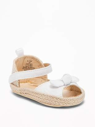 Old Navy Knotted Peep-Toe Espadrille Sandals for Baby