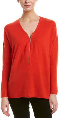 The Kooples Sport Zipper Wool & Cashmere-Blend Sweater