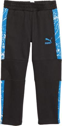 Puma T7 Pieced Splatter Print Fleece Track Pants