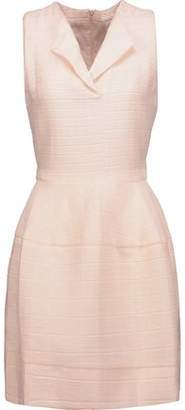 Maje Romya Belted Matelassé Mini Dress