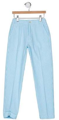 Oscar de la Renta Boys' Stripe Seersucker Pants
