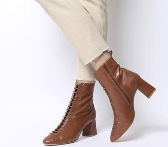 041af0737d3 at Office · Office Aloha- Lace Up Mid Block Boots
