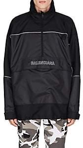 Balenciaga Men's Mixed-Media Windbreaker - Black