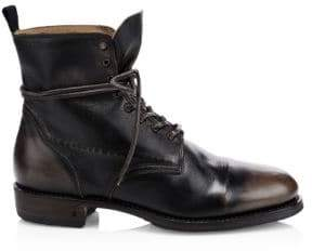 John Varvatos Folsom Leather Lace-Up Boot