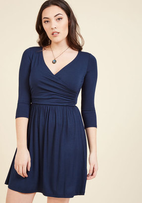 Everywhere You Flow Jersey Dress in Navy in S $59.99 thestylecure.com