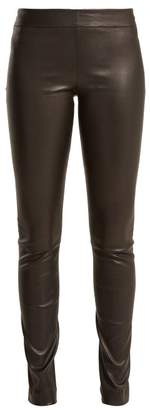 The Row Moto Leather Trousers - Womens - Black