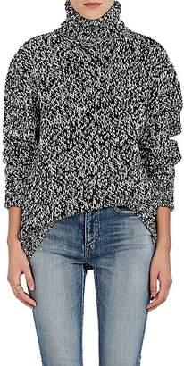 Saint Laurent Women's Wool Oversized Turtleneck Sweater
