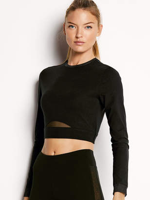 Victoria Sport Cropped Long Sleeve Tee