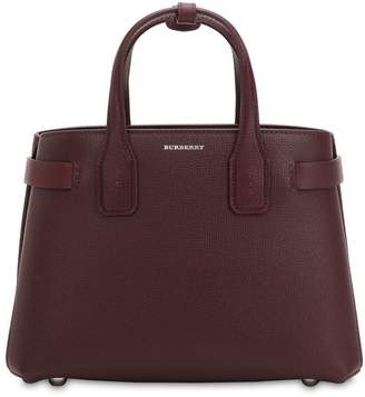 Burberry Small Banner Leather Bag W/ Check Strap