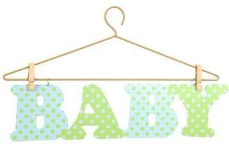 Green Baby Littleboutique Little Boutique Hanger Wall Art - Blue &