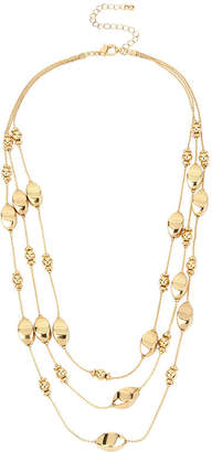 Bold Elements 3-Row Swirl Bead Necklace