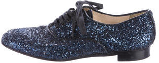Christian Louboutin Christian Louboutin Glitter Lace-Up Oxfords