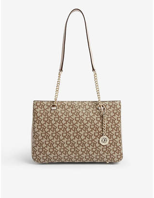 DKNY Bryant logo leather tote