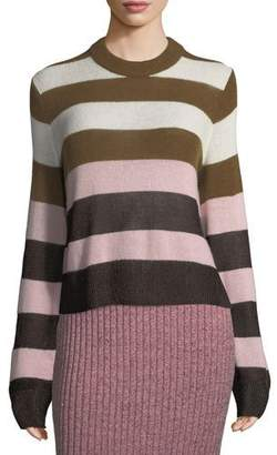 Rag & Bone Annika Wide-Stripe Ombre Crewneck Sweater