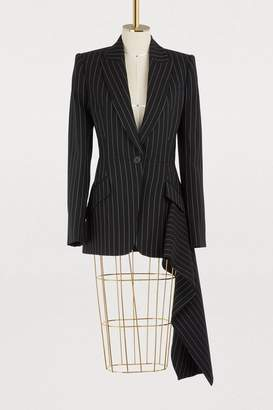 Alexander McQueen Wool drape jacket