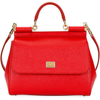 Dolce & Gabbana Sicily Medium Calf Leather Satchel Bag