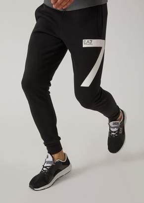 Emporio Armani Cotton Joggers With Ea7 Logo
