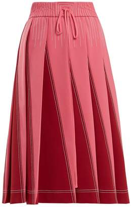 Valentino A-line pleated jersey skirt