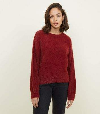Plum Fluffy Slouchy Jumper
